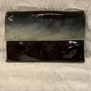 Charles David Ombré Patent Leather Envelope Clutch